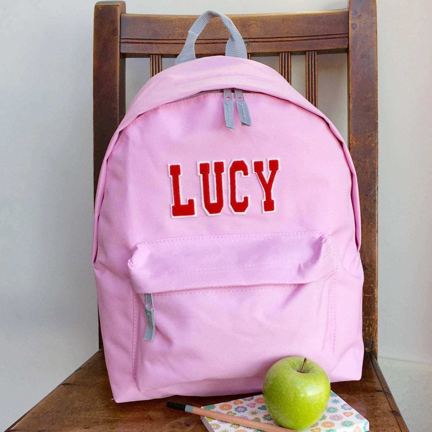 Pinkgymgirl Squishy Collection : Personalised Backpack Varsity Style ? Pink Pineapple Home & Gifts