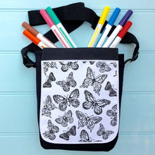 Butterflies Colour In Bag For iPad With Across the Body Strap