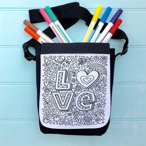 Love Colour In Bag For iPad With Across the Body Strap
