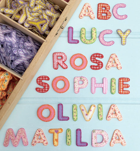 Embroidered Iron On Patchwork Alphabet Letters