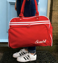 Weekend Bag Red with Name