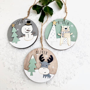 Personalised Character Christmas Decoration