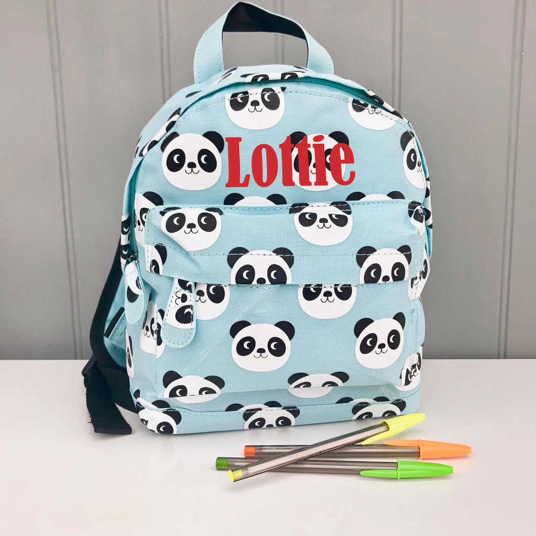 Personalised Child's Panda Backpack