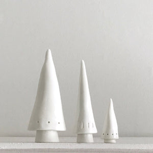 Porcelain Christmas Tree  Family