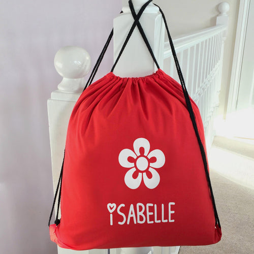 Personalised School PE Bag Flower