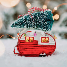 Christmas Glass Caravan Decoration