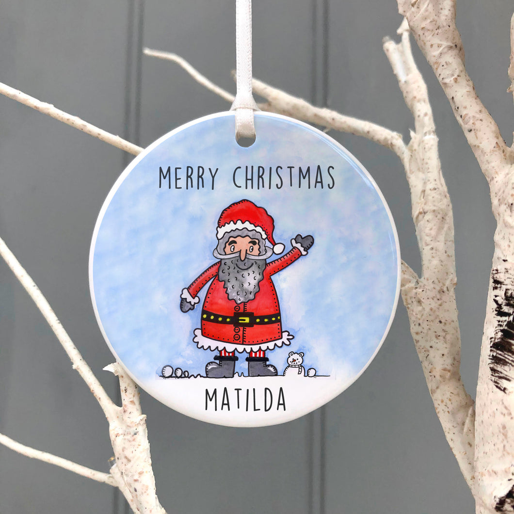 Personalised Santa Christmas Decoration