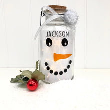 Personalised Light Up Snowman Jar