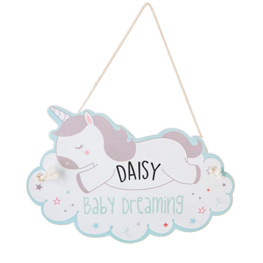 Unicorn Children's Personalised Door Sign