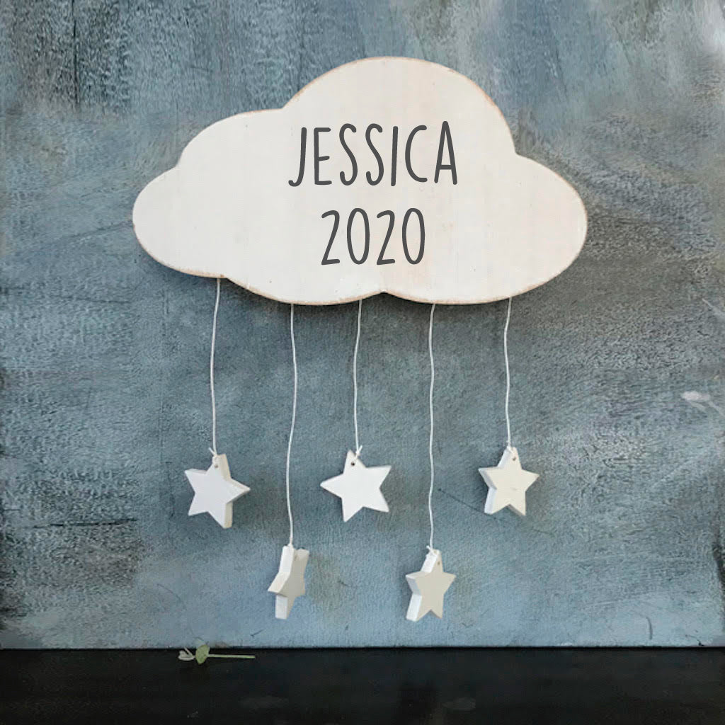 Personalised Cloud Nursery Decoration