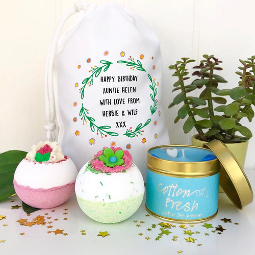 Auntie Bath Gift Set and Candle