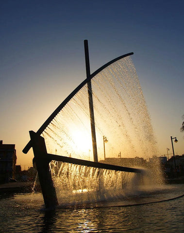 Water Boat Fountain in Valencia, Spain