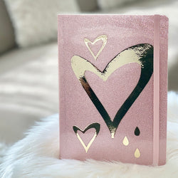 Heart FRIDGE MAGNET with real Swarovski® crystals