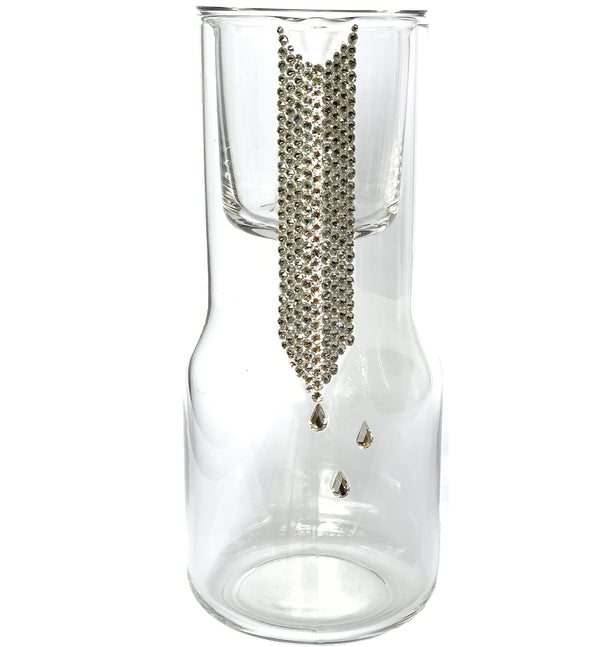 glass PITCHER WITH CUP with real Swarovski® crystals picture