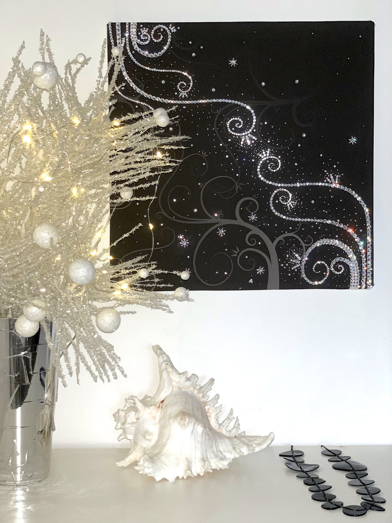 TENDRILS canvas artwork with real Swarovski® crystals luxury gift