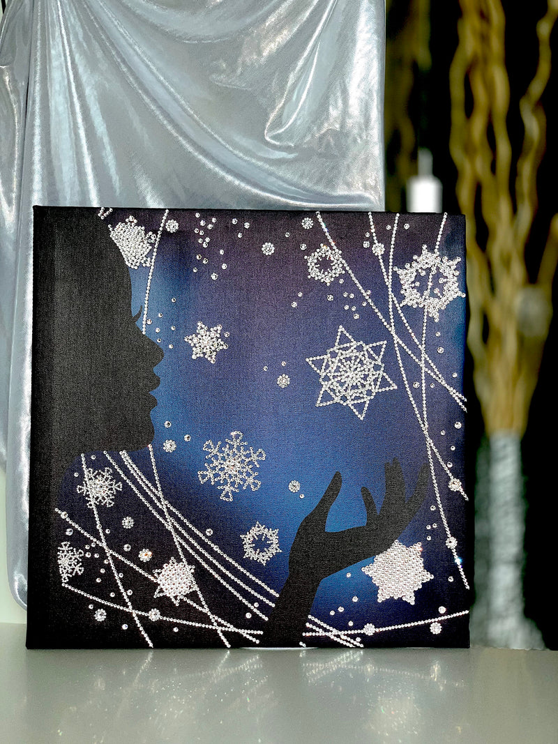 WINTER MAGIC canvas on the designed mood table