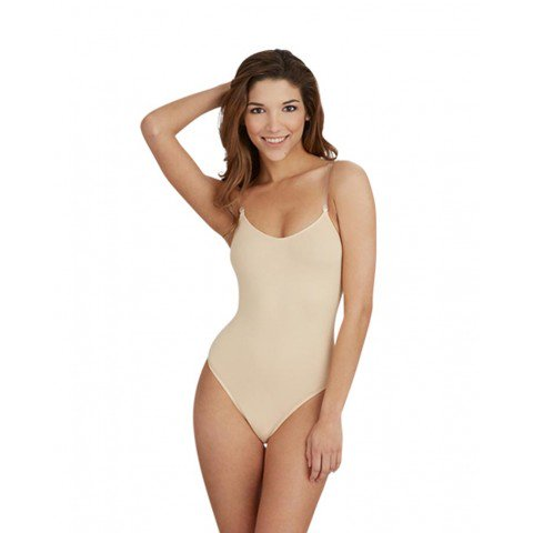 Capezio 3532 Nude Cami Leotard With Clear Straps