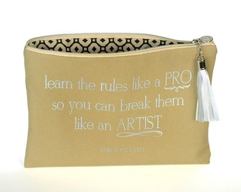 Pablo Picasso Quote Canvas Bag