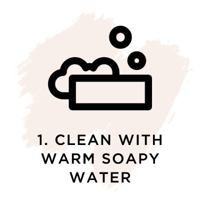 Clean with warm, copy water.