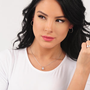 Hollywood Glam Necklace pictured on woman
