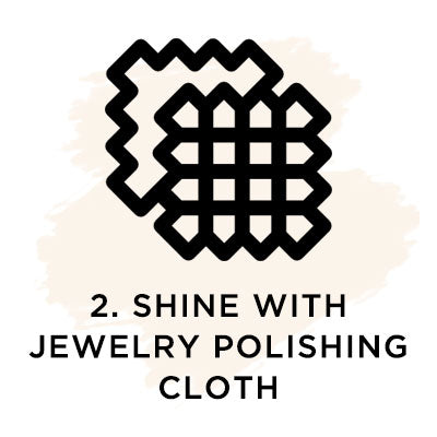 Shine with jewelry polishing cloth.
