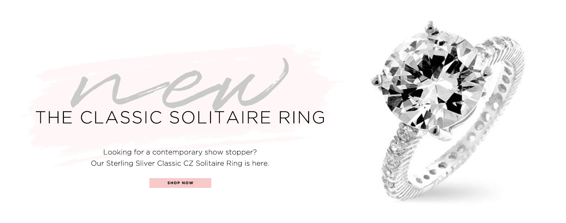 new. the classic solitaire ring. Looking for a contemporary show stopper? Our Sterling Silver Classic CZ Solitaire Ring is here. Shop now.