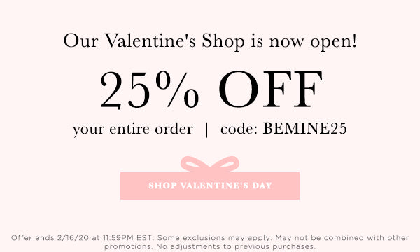 Use Code BEMINE25 for 25% off