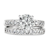 Eve's Vintage Style Cubic Zirconia Wedding Ring Set - None