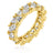 Gold Trillion Eternity Ring - None