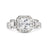 Ireland's Princess Cut CZ Vintage Style Ring - None