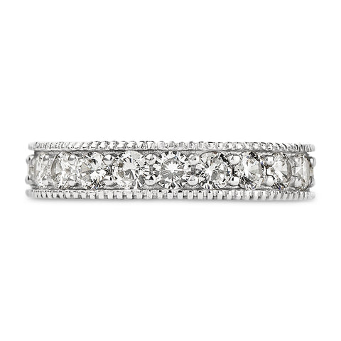 Ivana's Antique Style Round Cut Full CZ Eternity Band .925 sterling silver - None