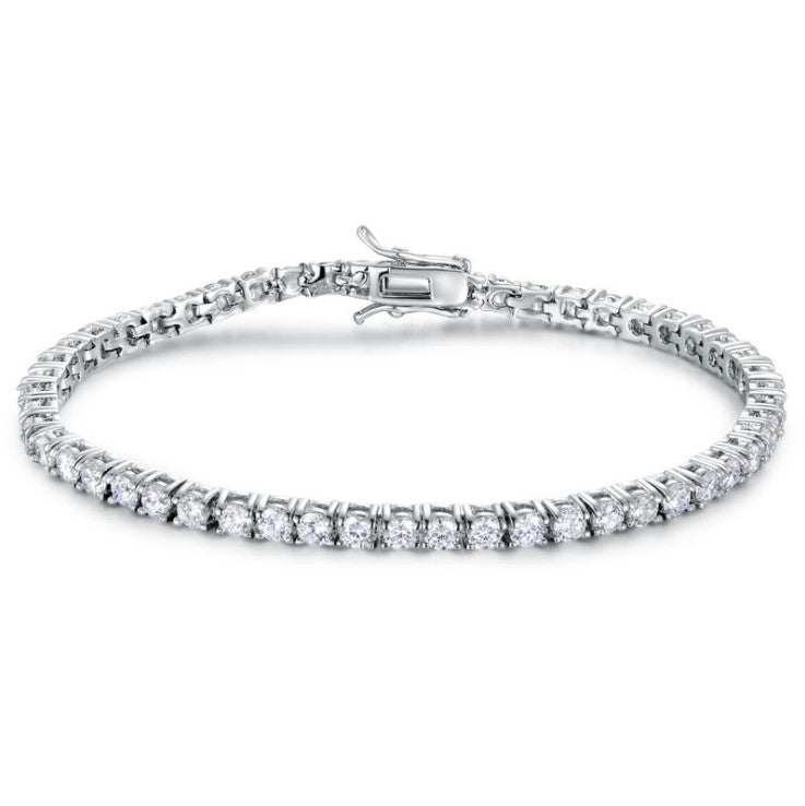 3mm Round Cut Tennis Bracelet