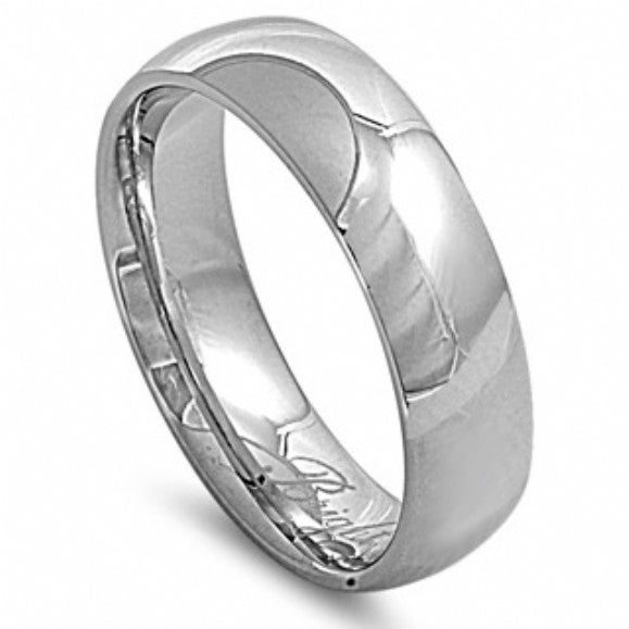 Unisex 7mm Comfort Fit Stainless Steel Wedding Band - None