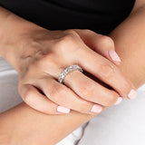 Cushion Cut Full CZ Eternity Band .925 sterling silver - Clear