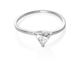 Triangle Trillion Cut Solitaire Ring - Clear