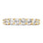 The Diva Round Cut Full CZ Eternity Band .925 sterling silver - Clear w/ Gold