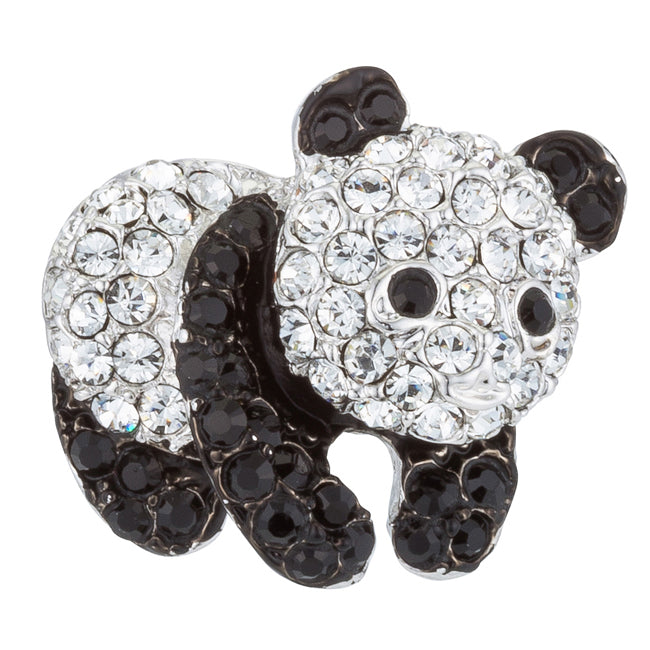 Panda Pin with Crystals