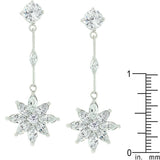 Star CZ Drop Earrings