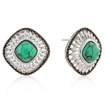 Two-Tone Diamond Head Earrings