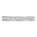 Channel Set Round Cut Full CZ Eternity Band .925 sterling silver - None