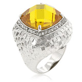Citrine Dome Cocktail Ring - None