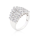 Classic Cubic Zirconia Step Ring - None