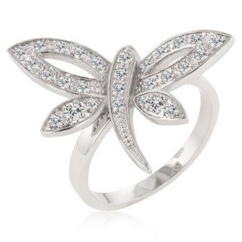 Dragonfly Inspired Ring - None