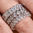 Emerald Cut Full CZ Eternity Band .925 sterling silver - None