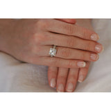 Hailey's Vintage Style Princess Cut CZ Ring - None