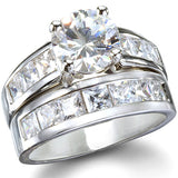 Jaclyn's Sterling Silver CZ Wedding Ring Set - None