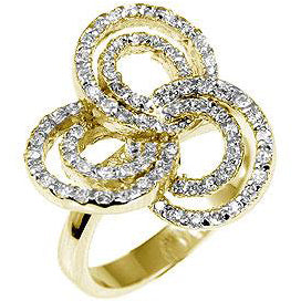 Pave Swirls Fashion Ring - None