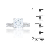 Princess Solitaire Wedding Ring Set - None
