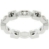 Square and Oval Eternity Band - None