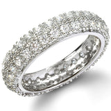 The Beyond Eternity Sterling Silver Diamond CZ Band - None
